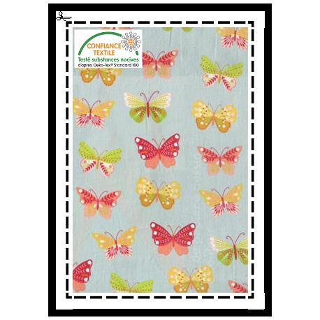 """Tissu """"Papillons colorés"""""""